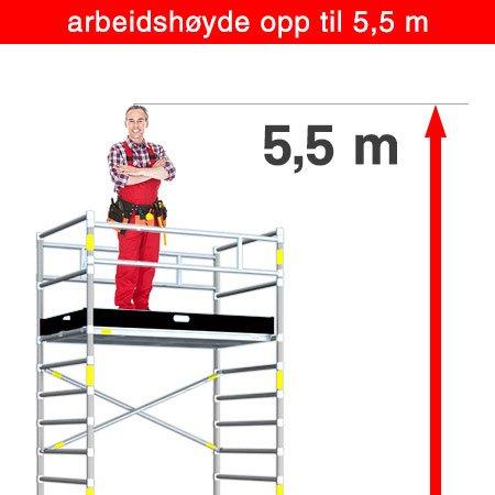 5.5 m arbeidshøyde